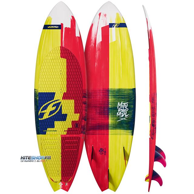 Planche de surf F-one mitu monteiro en test kiteshop